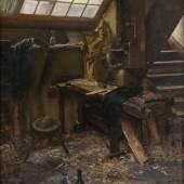 wald Mataré, Im Atelier (Gemälde), um 1910 © VG Bild-Kunst, Bonn 2015