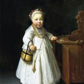Govert Flinck, Mädchen am Hochstuhl, 1640, Mauritshuis, Koninklijk Kabinet van Schilderijen / Royal Picture Gallery, The Hague