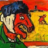 Otto Muehl (*1925) Van Gogh als Ziege, 1984 Öl auf Leinwand 130 x 140 cm Privatbesitz © VBK Wien, 2010