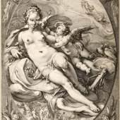 Hendrick Goltzius, Aphrodite und Cupido, 1596, Sammlung Robert Angerhausen