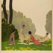 / André Édouard Marty, aus der Serie Vier Plakate für London, General Omnibus Company, 1931, Lithografie © MKG Hamburg / VG Bild-Kunst, Bonn 2020