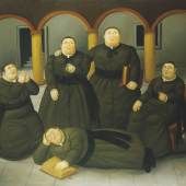 Fernando Botero, Das Priesterseminar, 2004 - Öl auf Leinwand, 151 x 193 cm, Privatbesitz © Fernando Botero