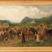 Kat. 175: Blaas, Julius von - Rauferei auf einem steiermärkischen Pferdemarkt