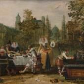 Esaias van de Velde (1587-1630) Merry Company in a Park, 1614 Mauritshuis, The Hague