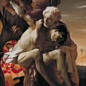 HENDRICK TER BRUGGHEN (1588 - 1629), DER HEILIGE SEBASTIAN, VON IRENE GEPFLEGT, 1625  Öl auf Leinwand, 150,2 x 120 cm  St. Sebastian Tended by Irene, 1625 Oil on Canvas, 150.2 x 120 cm  De heilige Sebastiaan door Irene verzorgd, 1625 Olieverf op doek,150,2 x 120 cm   © Allen Memorial Art Museum, Oberlin College, OH. R. T. Miller Jr.
