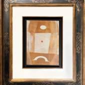 "1. Max Ernst ""L'oiseau devant le miroir"", 1966, Öl auf Holz, 33,4 x 24,4 cm, signiert  Foto: Galerie Française (C): Mit VG Bildkunst klären/info@bildkunst.de"