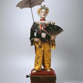 Figurenautomat Clown mit Schirm. Vichy, Paris/F 1878. (c) Museum für Musikautomaten Seewen SO