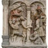 Geißelung Christi, frühes 16. Jahrhundert Breitenbrunner Kalksandstein mit Resten der Erstfassung von 1581 Stephansdom, Wien  © BDA, Foto: Irene Dworak