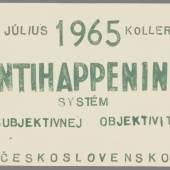 Július Koller More / Sea, 1963–1964 Öl auf Leinwand / oil on canvas, 69 x 49,5 cm Courtesy SOGA Collection, Bratislava
