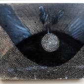 Radhika Khimji, Overlap, 2019, Oil and photo transfer on wood, 28.5 x 36 cm, Courtesy Galerie Krinzinger and the artist