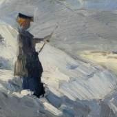 Franz Marc, Stehende Frau in Winterlandschaft, 1906 Franz Marc Museum, Kochel a. See Privatbesitz