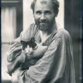 Galerie Johannes Faber: 01_Moriz Nähr, Gustav Klimt, Wien 1912, Vintage silver print, 21,5 x 16,5 cm, rückseitig signiert Copyright: Courtesy Galerie Johannes Faber
