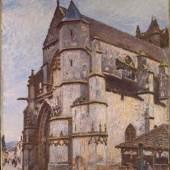 Alfred Sisley L'église de Moret, temps pluvieux le matin, 1893