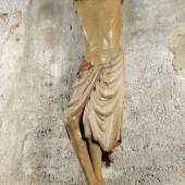 01_Spätromanischer Christuskorpus,Südtirol, um 1250, originale Fassung, H: 165 cm,Foto: Antiquitäten und Bildergalerie Anton Figl