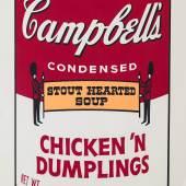 """Andy Warhol """"Chicken`n Dumplings"""", aus der Serie """"Campbell's Soup II"""", 1969, Siebdruck auf Papier, Edition von 250, Foto: Galerie 2C for Art © The Estate and Foundation of Andy Warhol/Bildrecht, Wien, 2016"""