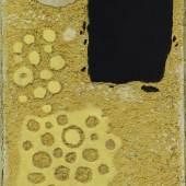 Willi Baumeister Safer mit Punkten, 1954 Öl mit Kunstharz und Sand auf Karton auf Hartfaser 36,5 x 27 cm Kunstsammlungen Chemnitz – Museum Gunzenhauser Eigentum der Stiftung Gunzenhauser, Chemnitz Foto: Kunstsammlungen Chemnitz/PUNCTUM/Bertram Kober © VG Bild-Kunst, Bonn 2018