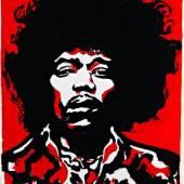 Otto Muehl (*1925) Jimi Hendrix, 1968 Unikat-Druck auf Papier 90 x 70 cm Privatbesitz © VBK Wien, 2010
