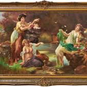 Zatzka, Hans - Drei Nymphen an einem Seeufer