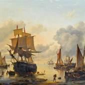 Louis Verboeckhoven (Warneton 1802-1889 Brüssel) Holländische Hafenszene € 15.000 - 30.000