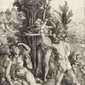 Albrecht Dürer (1471-1528), Die Wirkung der Eifersucht (Herkules am Scheideweg) [Detail], um 1498, Kupferstich, Hamburger Kunsthalle