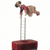 Figurenautomat «Akrobatin auf Leiter». Lambert, Paris/F um 1890. (c) Museum für Musikautomaten Seewen SO