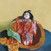 """02_Albert Paris Gütersloh, """"Stillleben mit Japanischer Puppe"""", um 1928,Öl auf Leinwand,43 x 35 cm, rechts oben signiert: Gütersloh Foto: Galerie bei der Albertina  Zetter / © VBK, Wien, 2013"""