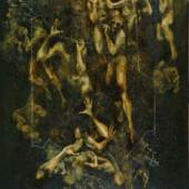 "Nr. 2: Valery Kharitonov: ""Nichtige (Vorhölle)"" aus dem Zyklus ""Hölle""  Öl auf Holzfaserplatte; 120 x 80 cm; 1987  Leihgabe: Valery Kharitonov © Valery Kharitonov; Foto: Alexander Kharitonov"