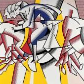 Roy Lichtenstein The Red Horseman, 1974 Öl und Magna auf Leinwand 285,5 x 213,5 cm mumok museum moderner kunst stiftung ludwig wien, Leihgabe der Österreichischen Ludwig Stiftung Foto: mumok © VBK Wien, 2012