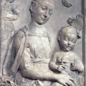 Antonio Rossellino: Madonna mit Kind, ca. 1450. Zustand nach der Rückführung aus der Sowjetunion 1958. © Staatliche Museen zu Berlin, Skulpturensammlung und Museum für Byzantinische Kunst / Jörg P. Anders