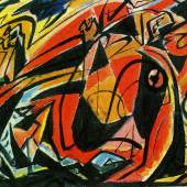 André Masson Massacre, 1931 Öl auf Leinwand 32,5 x 41,5 cm Privatsammlung Foto: Archives Comité André Masson © 2019 VG Bild-Kunst, Bonn