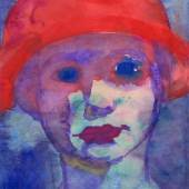 Emil Nolde, Mädchen mit rotem Hut (C) Nolde Stiftung Seebüll