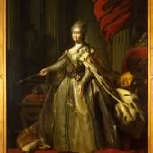 Feodor S. Rokotov Standporträt Katharina II., 1775/1780 Öl auf Leinwand, 264 x 186 cm Moskau, Staatliches Historisches Museum © Staatliches Historisches Museum, Moskau