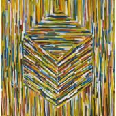 Sol LeWitt (1928 – 2007)  Cube (B)   1994   Gouache auf Papier    155x153,5cm  Ergebnis: 163.625 Euro  Dt. Auktionsrekord für eine Gouache für diesen Künstler