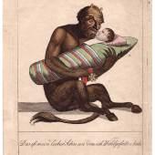 Graphik – Sammlung von 55 anti-napoleonischen, kolorierten Karikaturen. 1805–1815. 9.500,– (Bräuer, Hamburg)