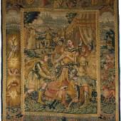Flämische Tapisserie mit antikisierenden Figurenszenen, 17. Jh.