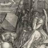 Albrecht Dürer (1471-1528), Melancolia I (Die Melancholie) [Detail], 1514, Kupferstich, Hamburger Kunsthalle