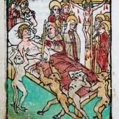 Die Stunde des Todes, Blockbuch, 15. Jh., Gutenberg-Museum, Mainz © Foto Martina Pipprich, Mainz