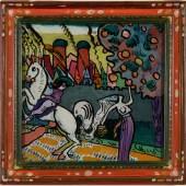 Wassily Kandinsky Mythologische Szene (Reiter und Apfelpflückerin), 1911 Franz Marc Museum, Kochel a. See ahlers collection