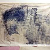 """Atelieraufnahme Werk aus der Ausstellung """"Markus Oehlen. >vom Stuhl gefallener Akt mit Trompete<"""", 2018 Foto: Markus Oehlen © 2018 Markus Oehlen"""
