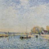 Alfred Sisley La rade de Cardiff, (Bateaux dans la Baie de Cardiff), 1897