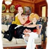 Copyright Playboy Autor Erich Sokol Beschreibung Stanley! You´ve stopped mingling., Playboy Magazine, Februar 1997, Erich Sokol Privatstiftung, Mödling