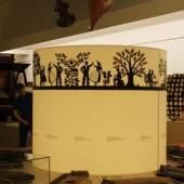Der Klangkunst-Saal mit der Zither-Ausstellung (Detail 1)