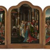 Master of the Solomon Triptych (active c.1520, probably in Antwerp) Triptych with the Life Story of Solomon, c.1512 Mauritshuis, The Hague