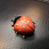 Cartier,  Ladybug, 1936, Platin, Brillanten, Koralle  Foto: Schmuck Saskia Seewald
