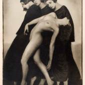 Los 18 RUDOLF KOPPITZ (1884–1936) Bewegungsstudie, 1925 Silbergelatineabzug, Vintage, großformatiger Abzug 32,7 x 24,3 cm
