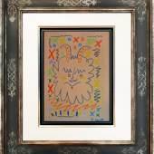 "Pablo Picasso, ""Tête de faune"", 1960er Jahre, Ölpastell auf Papier, 30 x 22 cm, Foto: Galerie Française – Gérard Schneider © Succession Picasso/Bildrecht, Wien, 2016"