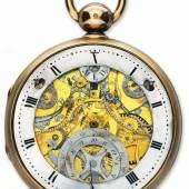 Nr. 45 Einfache Uhr mit zwei Stilen Goldgehäuse mit Silberkorpus, Staubdeckel aus vergoldetem Metall mit eingravierter Skala für den Abgleich der Monate im Gregorianischen und Republikanischen Kalender, Ring-Zifferblatt für die dezimalen Stunden der revolutionären Zeitrechnung, Chronometerhemmung. Verkauft am 7. Februar 1806 an den Herzog von Praslin. © Kreml Museen («The Moscow Kremlin»), Moskau