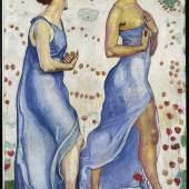 Ferdinand Hodler (1853–1918), Die Empfindung I, 1901/02. Öl auf Leinwand.  Rechter Teil:  115 x 76 cm Sammlung Christoph Blocher, Fotografie SIK-ISEA, Zürich (Philipp Hitz)