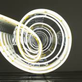 """Brigitte Kowanz """"Infinity and Beyond"""" Beitrag Österreich-Pavillon / Contribution Austrian Pavillon iPhone 09.01.2007, 2017, Detail Neon, Spiegel / Neon, Mirror B 80 cm x L 190 cm x H 19 cm Photo: Tobias Pilz Copyright: Bildrecht, Vienna 2017"""