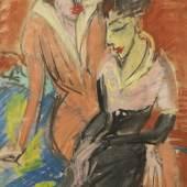 Ernst Ludwig Kirchner, Zwei Frauen, um 1913 Franz Marc Museum, Kochel a. See Dauerleihgabe aus Privatbesitz